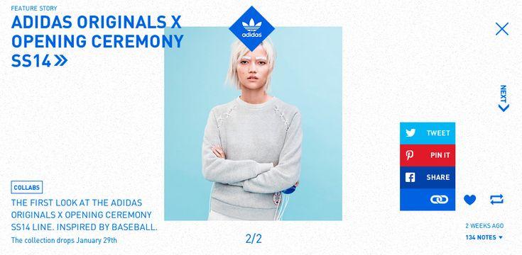 Adidas Originals Tumblr blog - Site of the Day January 24 2014