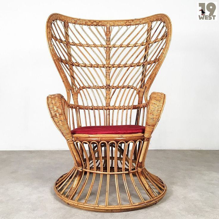 A Rattan lounge chair attributed to Gio Ponti. For sale on www.19west.de. #19West #vintage #möbel #gioponti #italiandesign #designklassiker #mcm #midcentury #modern #fifties #sixties #seventies #furniture #home