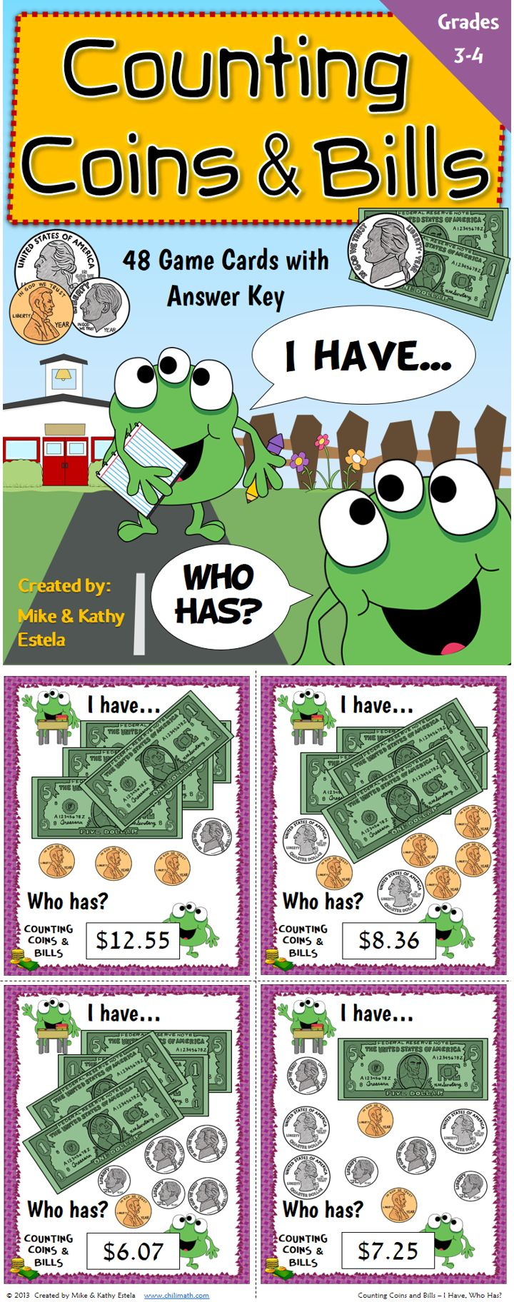 worksheet Counting Bills 25 best money images on pinterest counting coins teaching ideas this game provides a great opportunity to engage the whole class in learning how count and bills correctly set co