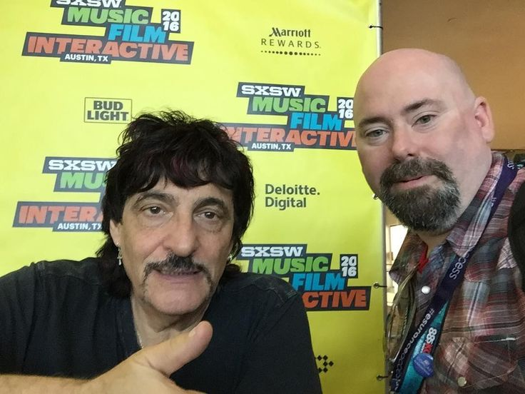 Awesome conversation with @carmineappice1 #drummer #sxsw #geekout