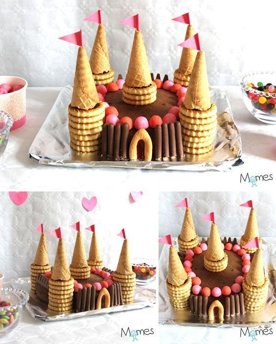 Les princesses et les chevaliers ont maintenant leur gâteau ! Hyper facile et amusant à réaliser avec les petits mômes, ce gâteau château sera le roi du buffet d'anniversaire. Effet whaouuu garanti !