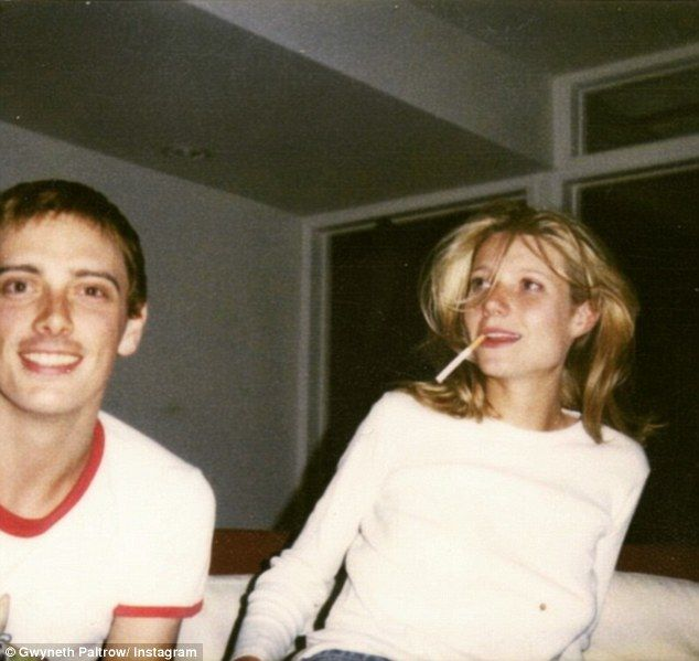 Gwyneth Paltrow smokes cigarette in snap from when she was 20-years-old | Daily Mail Online