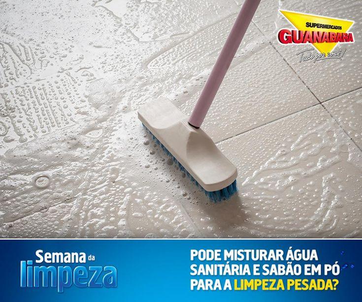 Misturar água sanitária com sabão em pó? — Supermercados Guanabara