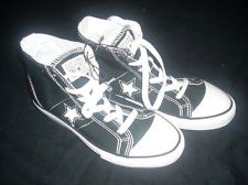 BOYS CONVERSE ONE STAR BLACK HIGH TOP SNEAKERS ATHLETIC TENNIS SHOES YOUTH 4 $29.99