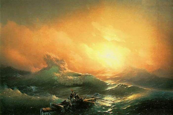И. Айвазовский. Девятый вал, 1850   Фото: wm-painting.ru