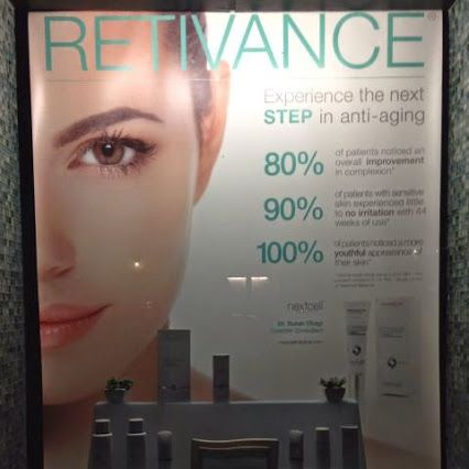 Spotted: our Retivance skincare window display looking good in Shadyside, Pittsburgh during an evening stroll. #Nextcell