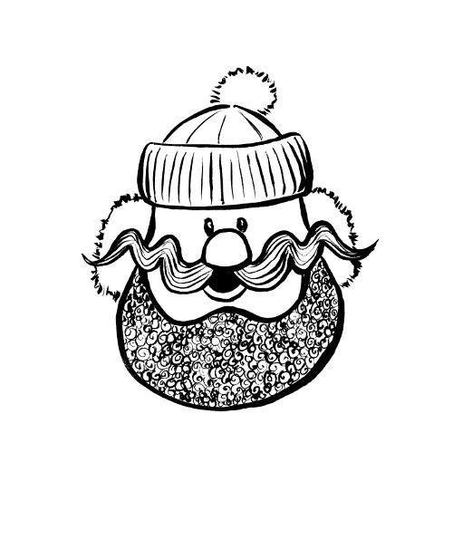 "Yukon Cornelius from Rudolph cartoon. This would make a cute ornament. The back could say ""Gold!"""