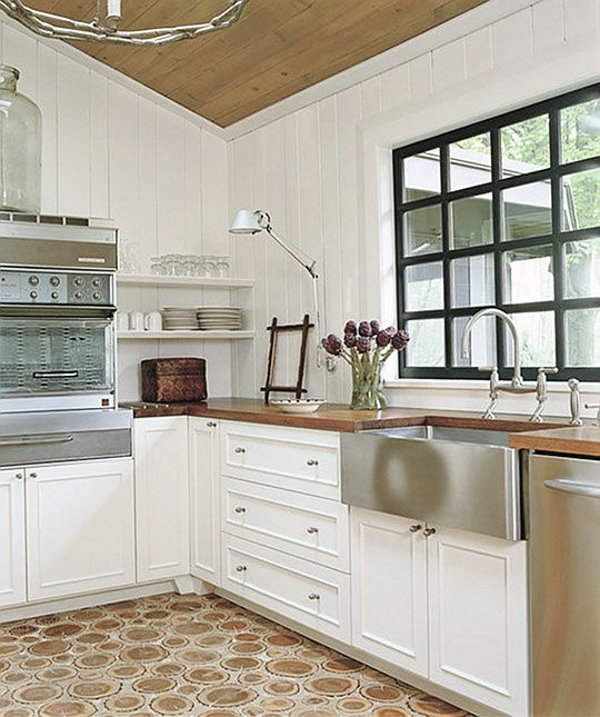 Kitchen With White Cabinets And Wood Trim: 43 Best Images About Black Window Trim On Pinterest
