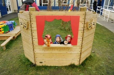 Wooden Puppet Theatre Screen
