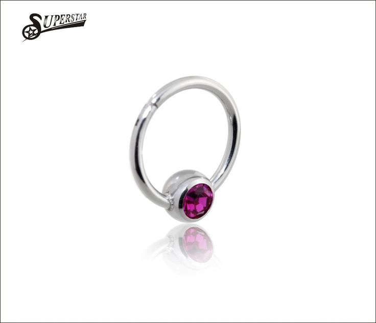 G23 Titanium Nose Rings for Women India Hinged Segment Ring Septum Clicker Piercing CZ Stone Nose Ring Body Jewelry