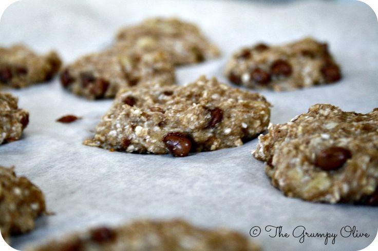 I biscotti sani alla banana e gocce di cioccolato, The Grumpy Olive.