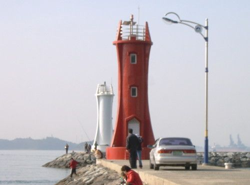 Lighthouses of South Korea: Sacheon and Namhae Area, Noryang Breakwater