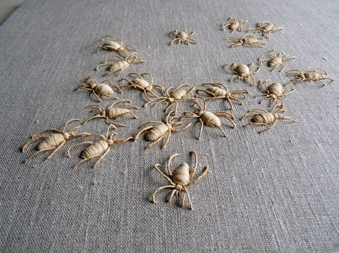 Embroidered insects by Catherine Rosselle