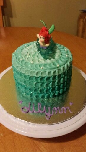 Personal Ombre Little Mermaid cake