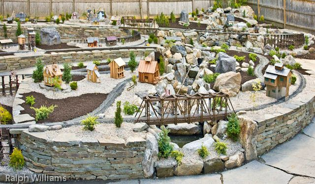 Garden Railway Pond and Waterfall Garden Railways Pinterest