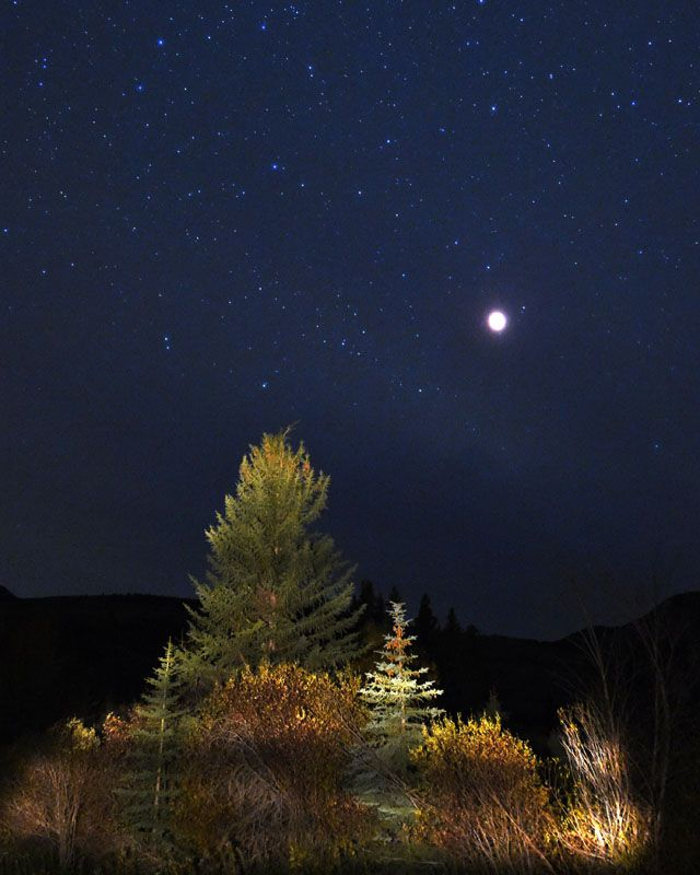 Blood Moon Pictures - Beautiful Photos of the October 2014 Blood Moon - Woman's Day  Looking a little lonely in Crested Butte, Colorado