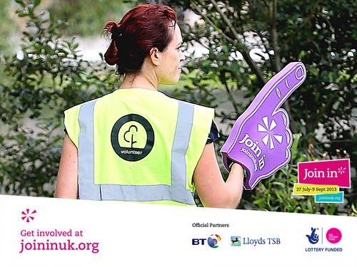 Purple foam fingers were seen throughout Parkrun's Join In Summer 2013 event in Chelmsford.