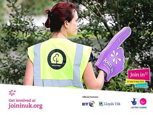 Purple foam fingers were seen throughout Parkrun's Join In Summer 2013 event in Chelmsford.
