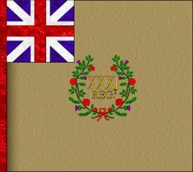 Regimental colour of 31st Regiment of Foot.
