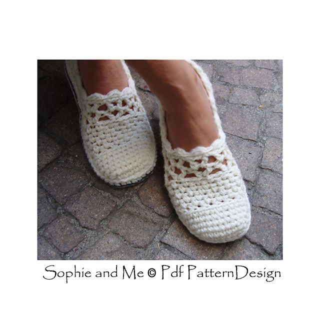 Lacey Wool Slippers pattern by Ingunn Santini