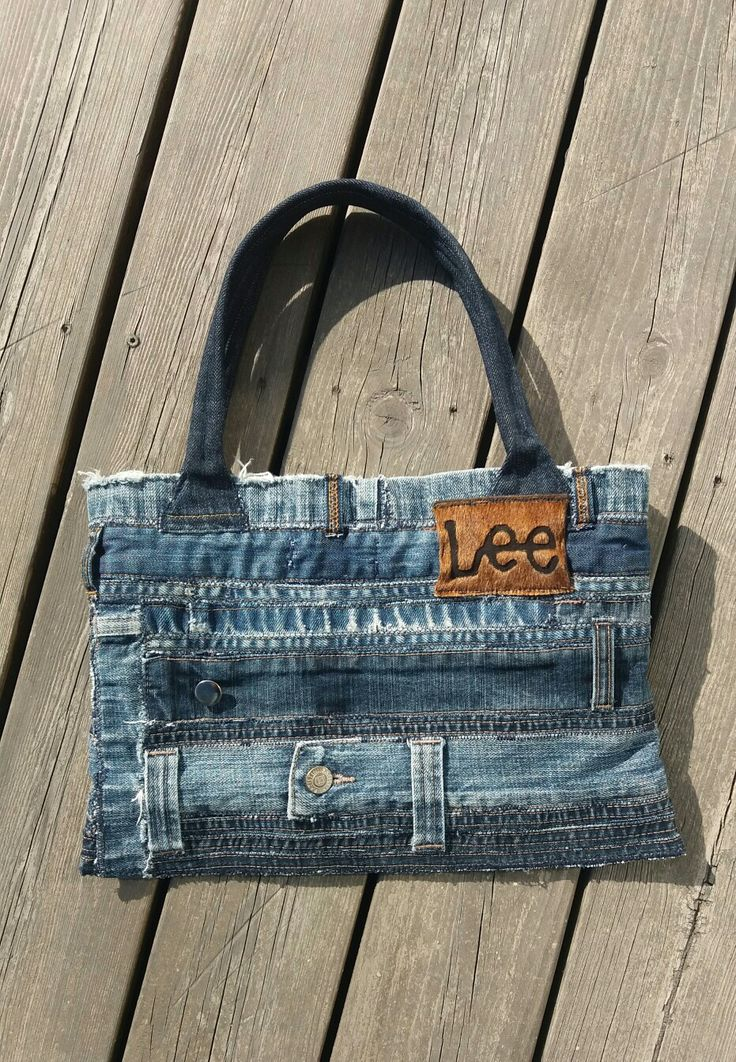 Handbag recycled denim;  re-used by Anna