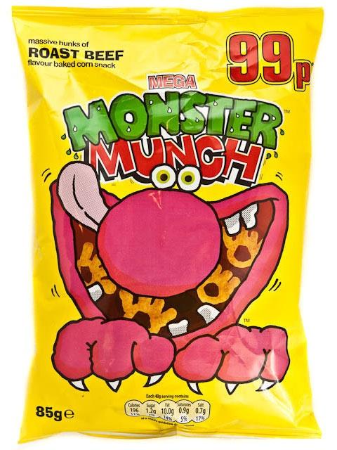 British.. Monster Munch Roast Beef crisps/snacks