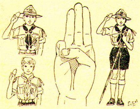 Il saluto dello scout - Associazione Gruppi Guide e Scout - Gruppo Novate 1