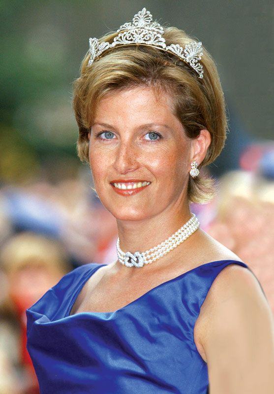 August 2001...Sophie of Wessex attending the wedding of Prince Haakon and Mette-Marit of Norway.