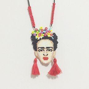Frida kahlo miyuki kolye #frida #fridakahlo #necklace #miyuki #delica #takı #aksesuar #accessories