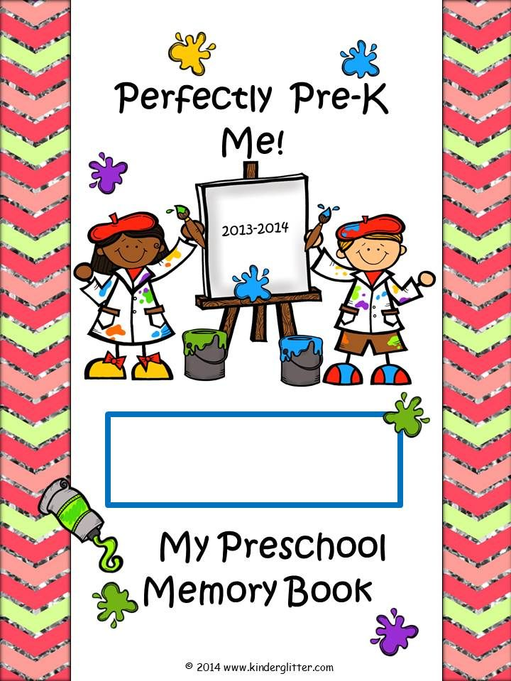 Preschool Memory Book Cover Ideas : Perfectly pre k me year end memory book