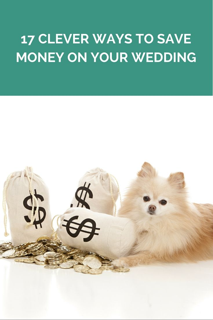 17 Clever Ways To Save Money On Your Wedding http://www.wedshed.com.au/17-clever-ways-to-save-money-on-your-wedding/