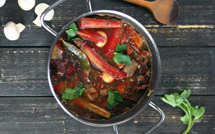 This warming, hearty stew is inspired by the classic boeuf bourguignon.