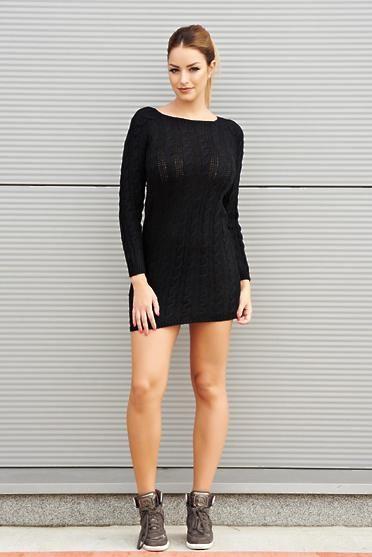 Rochie Lovely Attitude Black - Acest model de rochie din tricot va fi mereu la…