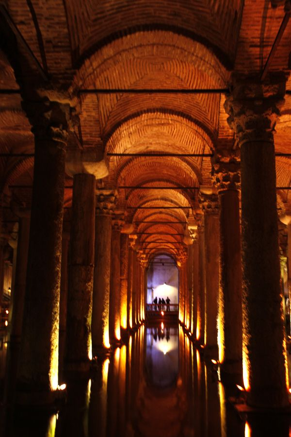 Underground Basilica Cistern, Istanbul, Turkey - the largest of several hundred ancient