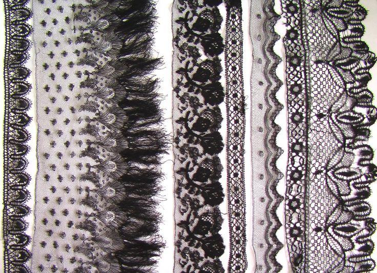 Стильная старинная одежда кружево – платья и вещи для женщин XIX века – продажа. черное кружево шантильи коклюшки 11 – Инвестиции в Антиквариат и коллекционирование.