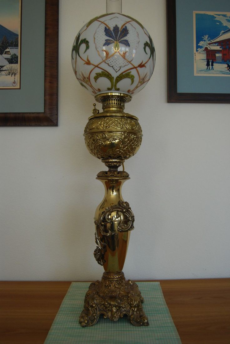 Regent antiques lights antique victorian oil lamp c 1860 - Gwtw Antique Victorian Oil Kerosene Old Banquet Parlor Gone With The Wind Lamp In Antiques