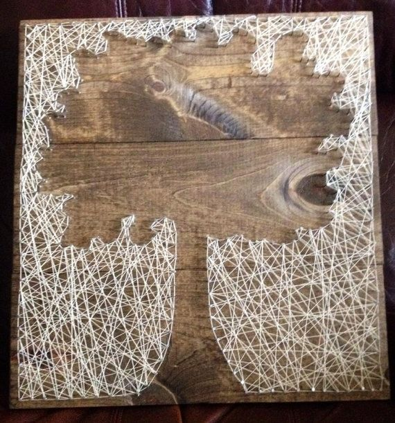 Reverse String Art Tree Silhouette $49
