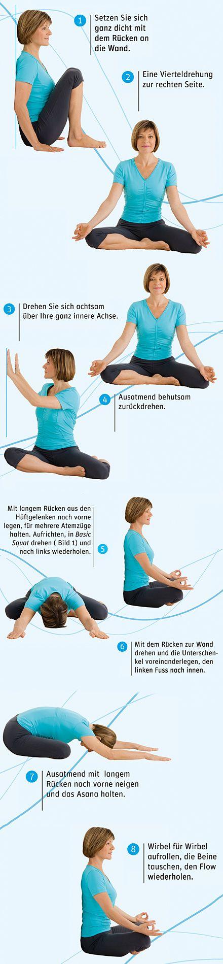 """Yoga Übung. Aus: Yoga im Rhythmus der Jahreszeiten"""", TRIAS Verlag."""