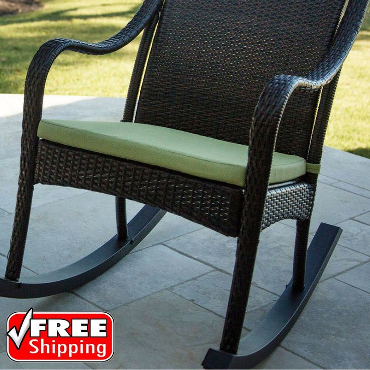 Hanover Outdoor Furniture Orleans Rocking Chair Cushion Avocado Green Seat Pad | Home & Garden, Yard, Garden & Outdoor Living, Patio & Garden Furniture | eBay!