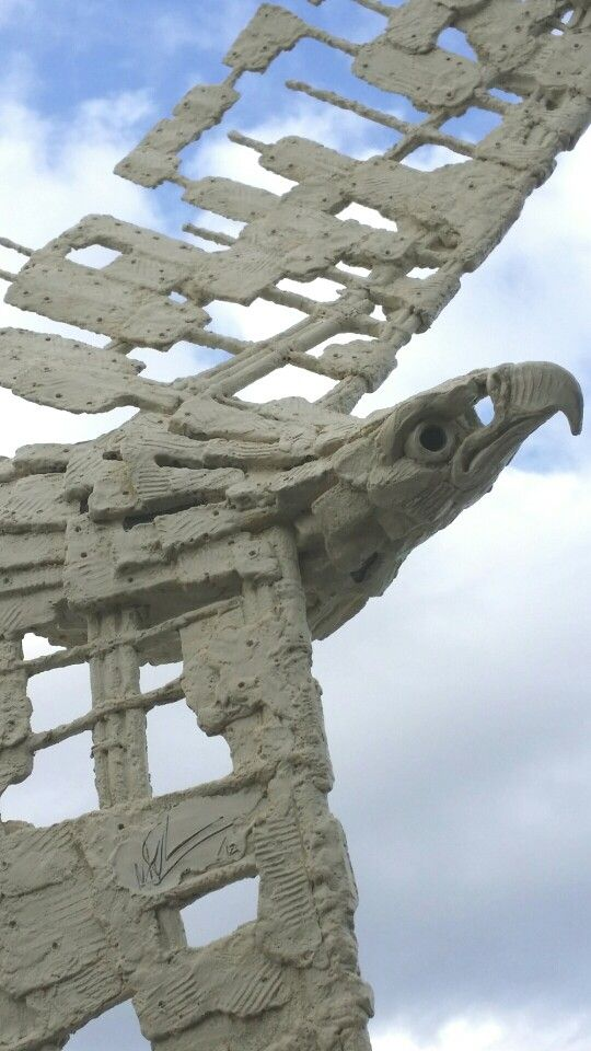 Exposed Eagle sculpture. Bronze edition of 15 by Malcolm Solomon