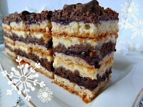 """Пляцок з горіхами """"Джміль""""- торт с орехами """"Шмель"""" - рецепти Лілії Цвіт - YouTube"""