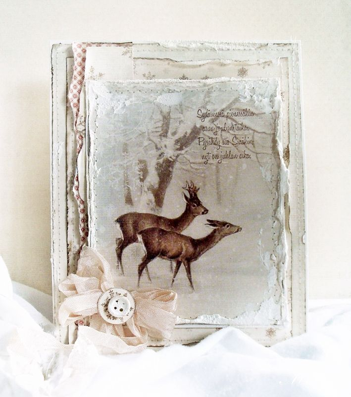 A winter card by Minna, featuring the Wintertime in Swedish Lapland collection