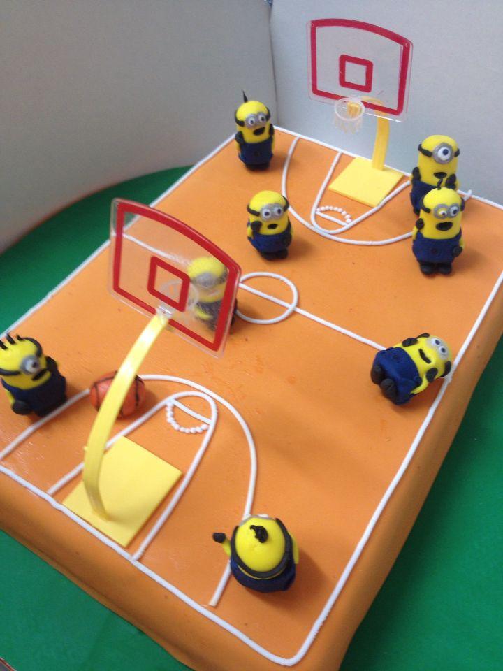 deco gateau terrain de basket