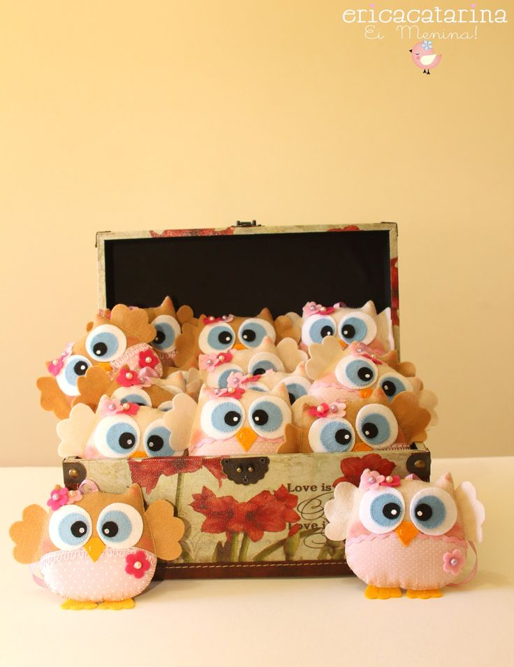 More of those simply adorable cute felt girly owls