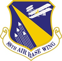 Wright-Patterson Air Force Base, 88th Air Base Wing logo  #USAF #Ohio
