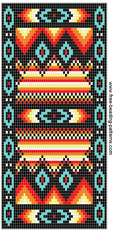 free-beading-pattern-wallet-southwest-fire