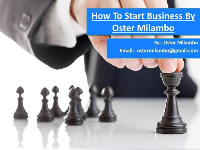 According to Oster Milambo At this moment, trying business visionaries the whole way across the nation are arranging their ways to business possession. It's a voyage that requires a ton of diligent work, and numerous individuals wind up coming up short. oster milambo or advice for new business click here…https://ostermilambo.wordpress.com/