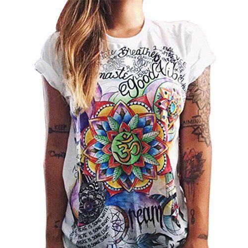 T-Shirt colorata disegno. Manica corta.