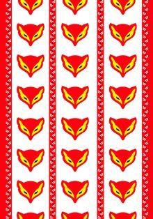 Vallila Kettukarkki-curtains. Grandparents always had fox candies.