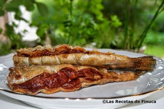 Las Recetas de Finuca: Truchas fritas con jamón